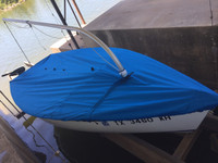 Catalina Expo 14.2 Mast Up Flat Cover by SLO Sail and Canvas