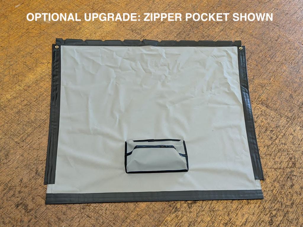 Forward Bias Cut Textilene 90 Mesh Trampoline to fit a Hobie® Getaway catamaran - Optional Upgrade: Zipper Pocket shown.