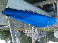 Capri 16.5 Sailboat Mooring Cover - Mast Up Flat Cover