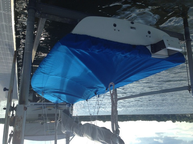 Capri 16.5 Mast Up Flat Mooring Cover by SLO Sail and Canvas