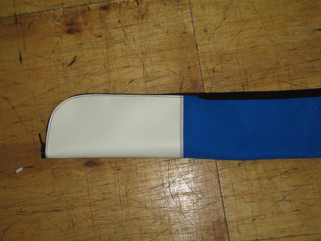 Vinyl reinforcement at mast base to prevent premature wear.