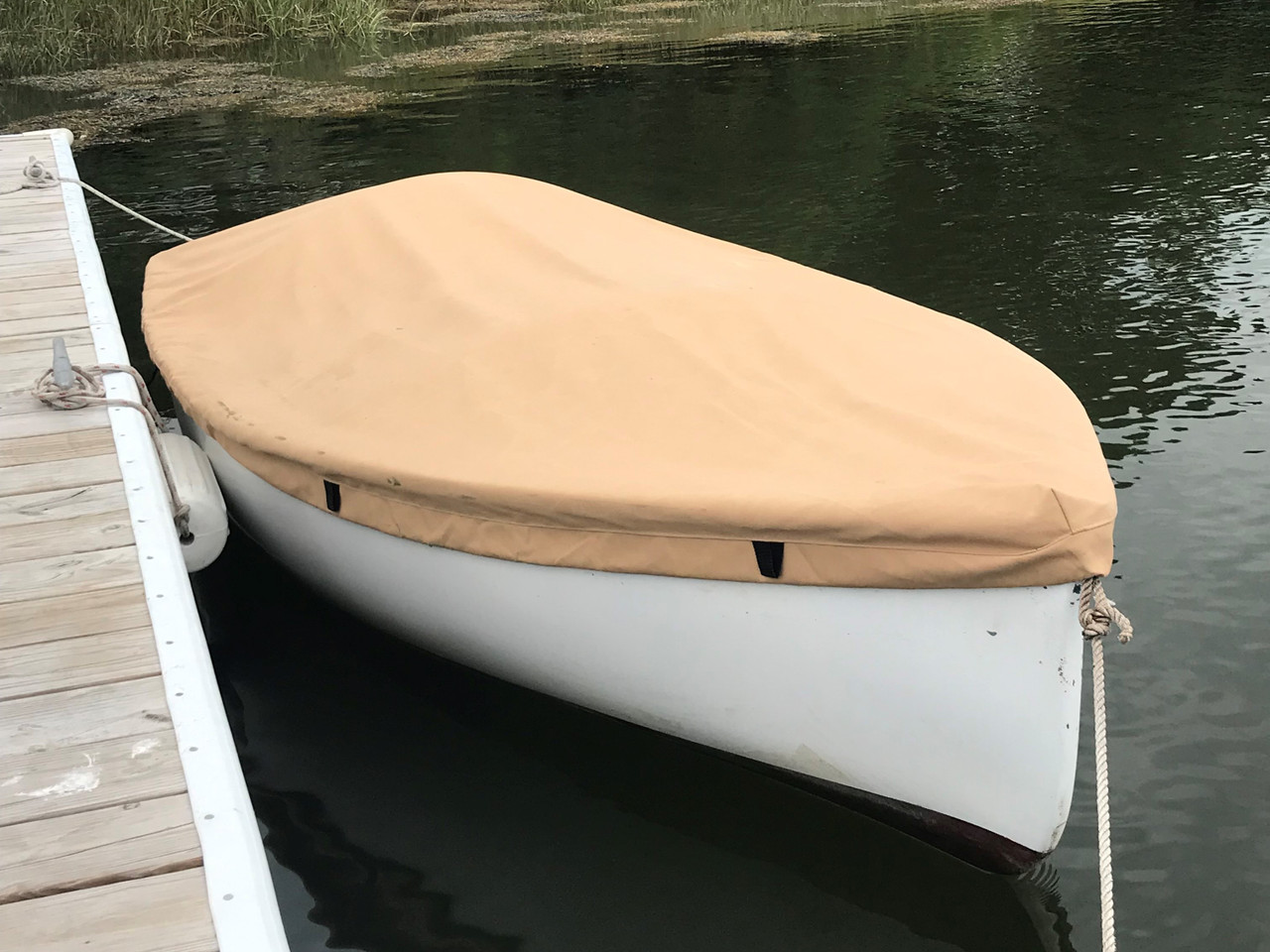 Keep your Dyer Dink dinghy free of leaves and dirt with a quality Top Deck Cover - made in San Luis Obispo California USA by SLO Sail and Canvas.