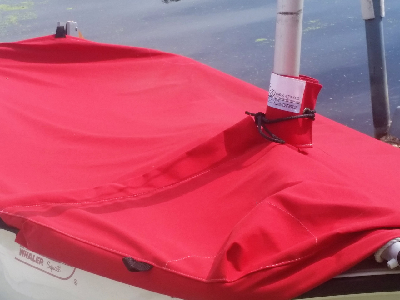 Boston Whaler Squall Mast Up Flat Mooring Cover by SLO Sail and Canvas
