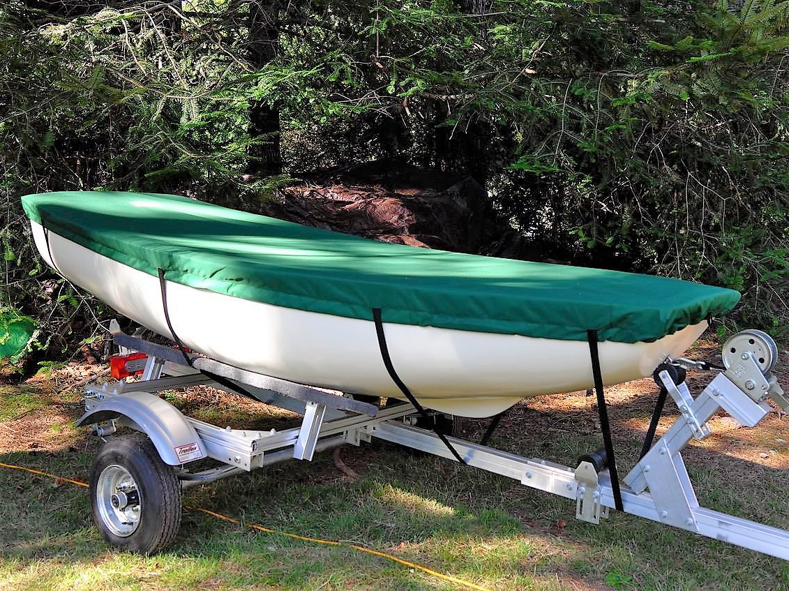 Boston Whaler Squall Sailboat Top Cover available in Polyester, Top Gun, or Sunbrella fabrics - and many colors.