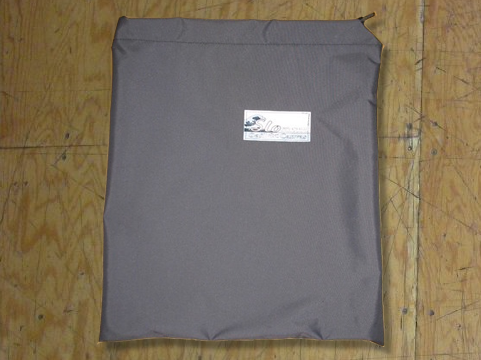 Folded Sail Bag made in America by skilled artisans at SLO Sail and Canvas. Shown in Polyester Charcoal Gray.