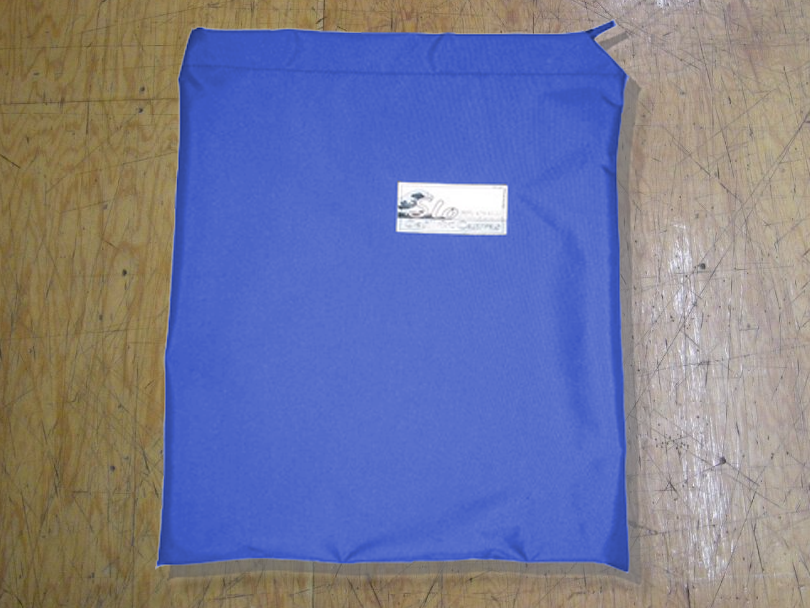 Folded Sail Bag made in America by skilled artisans at SLO Sail and Canvas. Shown in Polyester Royal Blue.