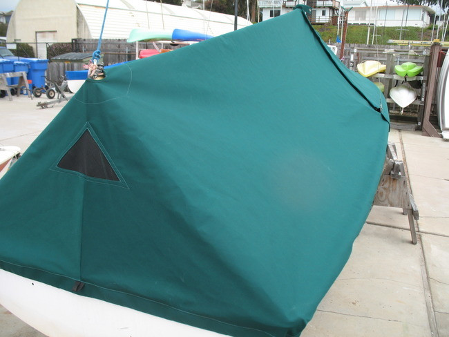 Capri 16.5 Mast Up Tented Cover by SLO Sail and Canvas