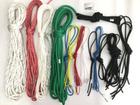 Full line kit for use with stock Hobie 18 catamaran sailboats. Replace your running rigging with high quality ropes from Samson, Marlow, and/or Bainbridge. Kit includes pre-cut lines with bungee and hog rings included!