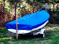 Javelin sailboat Top Cover by SLO Sail and Canvas.