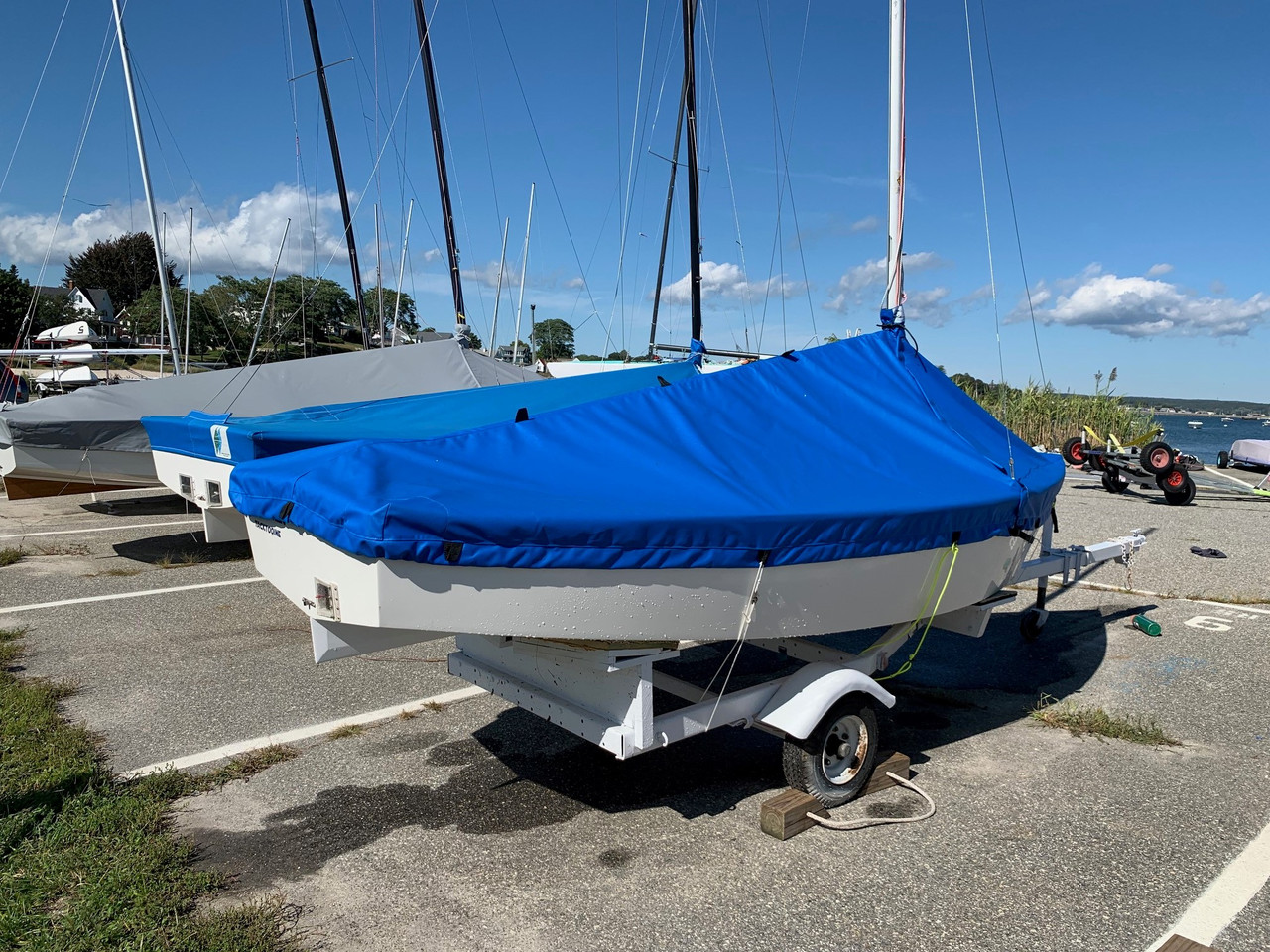 Our Blue Jay Mast Up Mooring Cover is available in many fabric and color choices.
