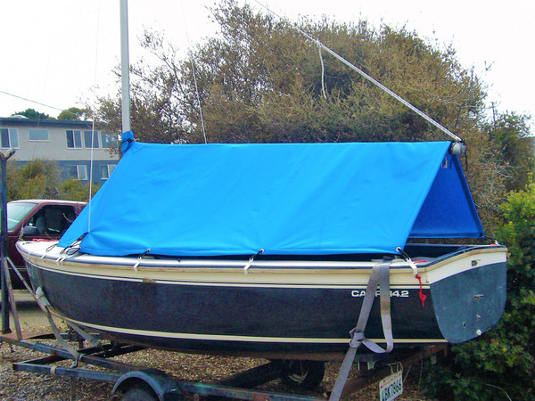 Capri 14.2 by Catalina Boom Tent Cover by SLO Sail and Canvas