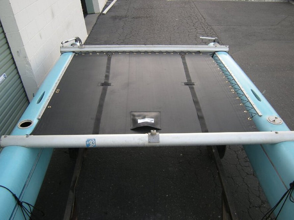Trampoline to fit a Freestyle 474 catamaran made in America by skilled artisans at SLO Sail and Canvas.