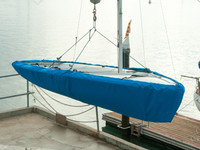 420 Sailboat Hull Cover made in America by skilled artisans at SLO Sail and Canvas.