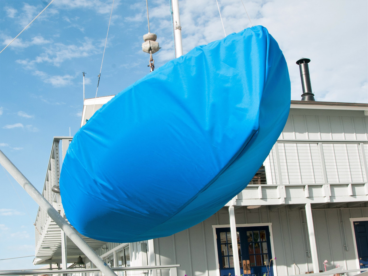 420 Hull Cover by SLO Sail and Canvas