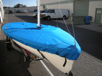 420 Sailboat Mast Up Flat Cover - Mooring Cover