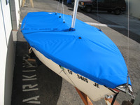 Vagabond 14 Sailboat Mast Up Flat Cover by SLO Sail and Canvas