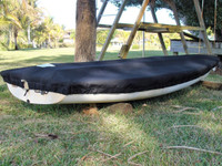 Precision 13 Sailboat Deck Cover made in America by skilled artisans at SLO Sail and Canvas.