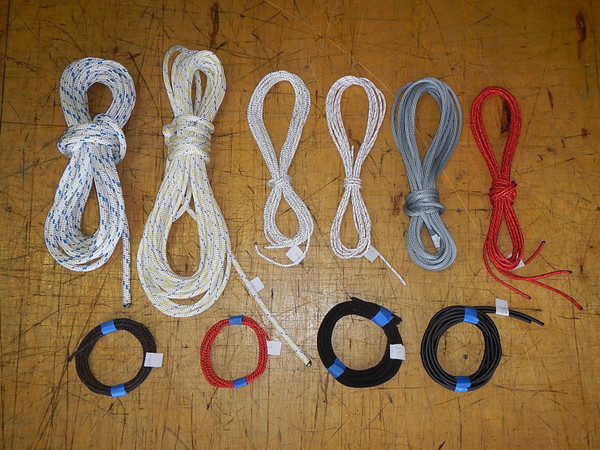 Replacement line kit for Hobie 16 with quality ropes from Marlow, Bainbridge, or Samson.