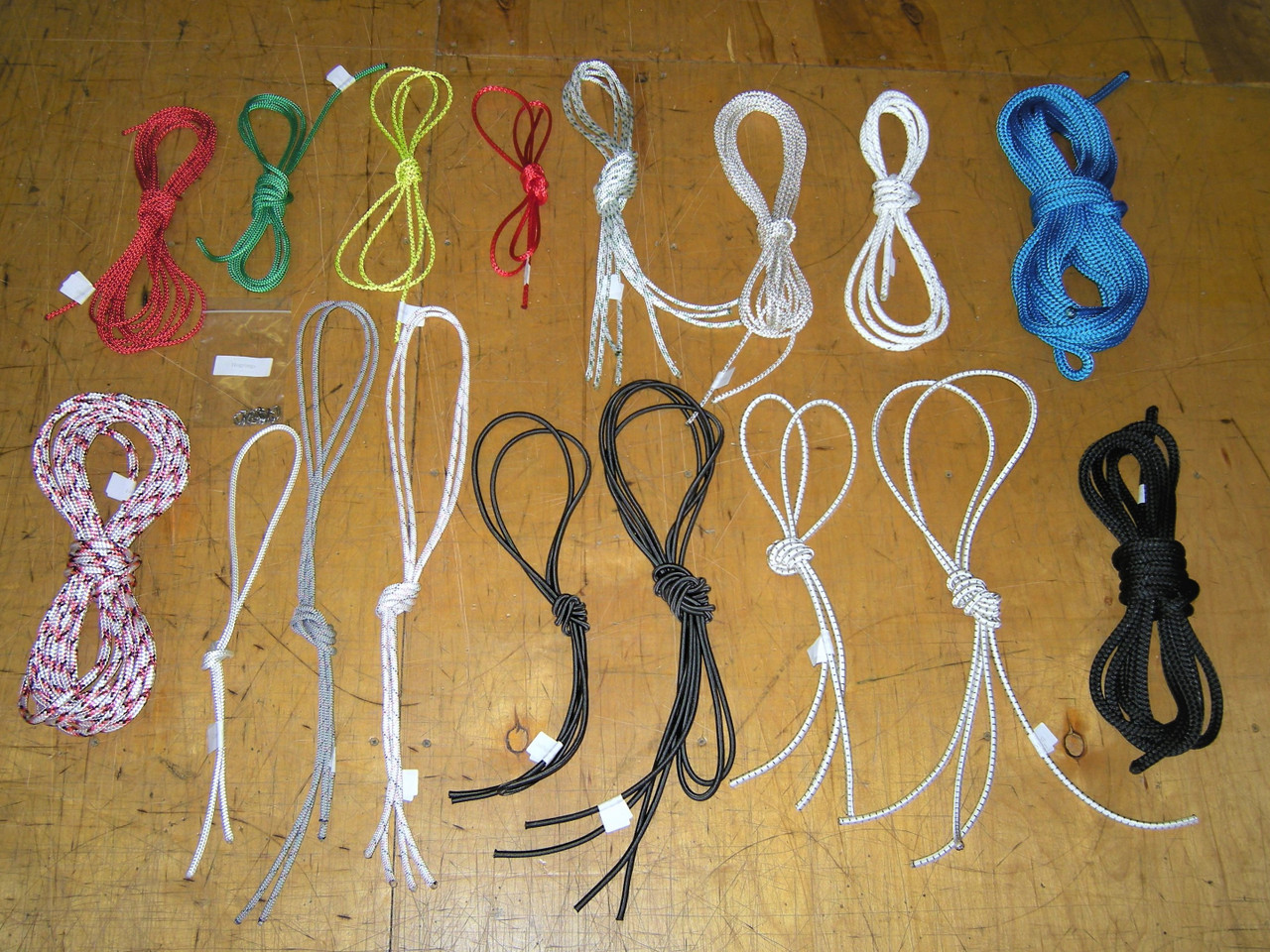 Line kit for Nacra 5.2 with high quality ropes from Marlow, Samson, and/or Bainbridge. Includes Running Rigging plus Bungee and Hogclips. Colors and line types subject to change.