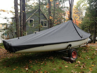 JY 15 Mast Up Peaked Cover by SLO Sail and Canvas