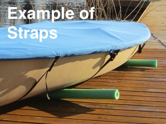 Optional Upgrade: Straps - Standard Web Loops are replaced with polypropylene straps with plastic Fastex buckles.