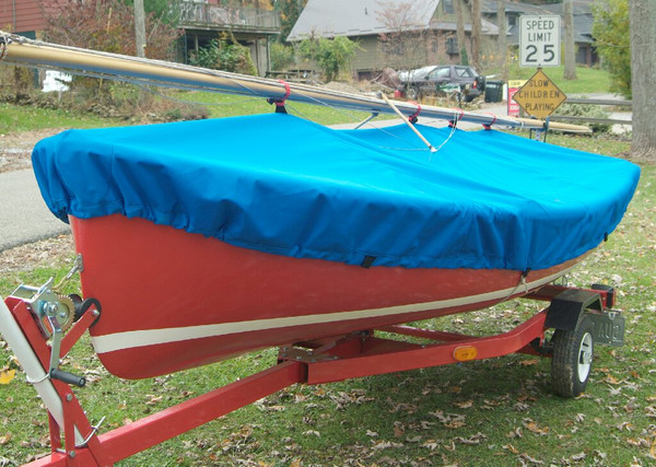 Widgeon Sailboat Top Deck Cover made in America by skilled artisans at SLO Sail and Canvas.