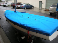 FJ/ CFJ/ Flying Junior Sailboat Mooring Cover - Mast Up Flat Boat Cover