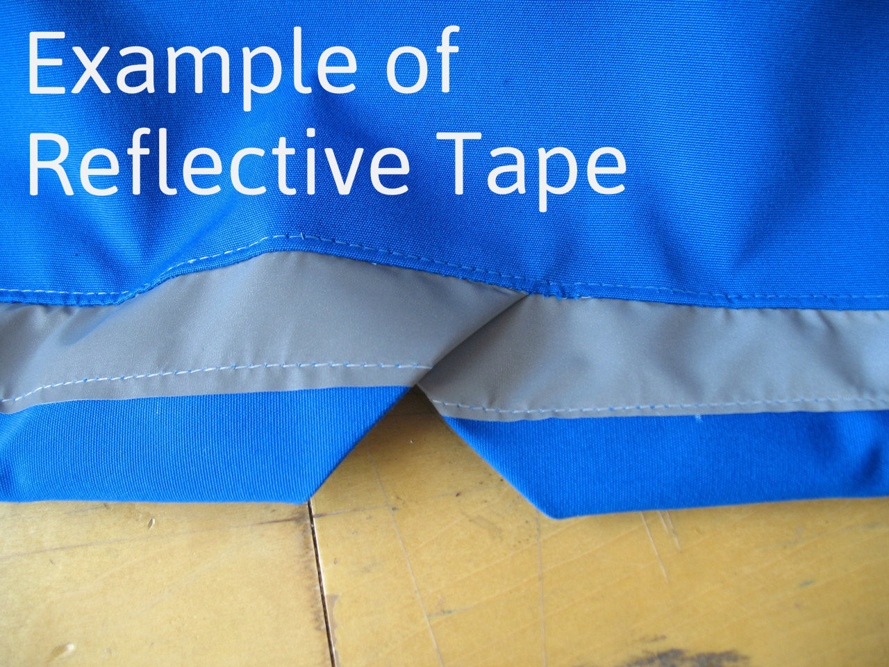Optional Upgrade: Reflective Tape - increase visibility while parked on the street or boat yard.