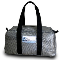 Gun Metal Gray Sailcloth Duffel Bag Carry-on Size/ Small