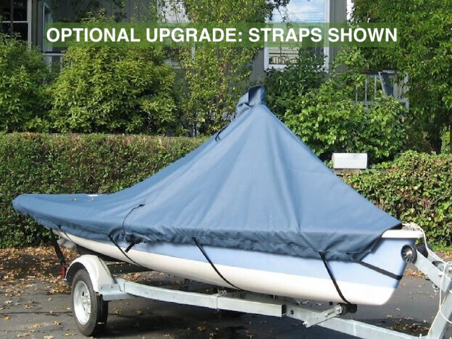 Optional Upgrade: Straps - Standard Web Loops are replaced with polypropylene straps with plastic Fastex buckles shown.