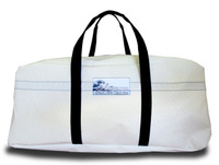 Sailcloth White Duffel Bag LARGE