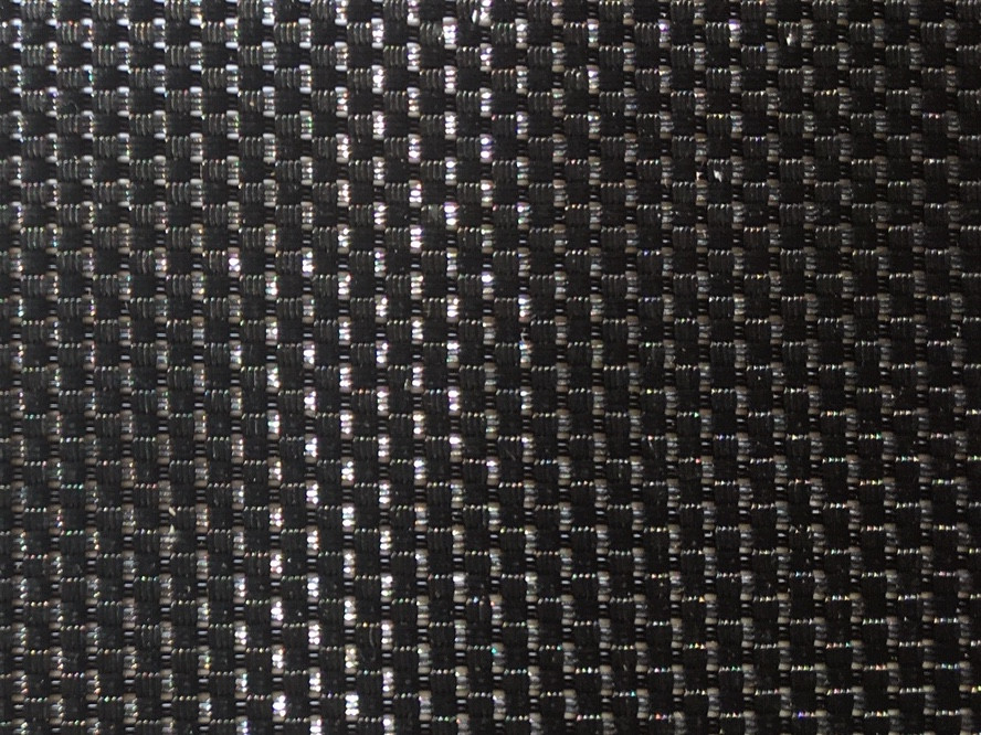 Shown in 8oz basket weave black Polypropylene mesh.