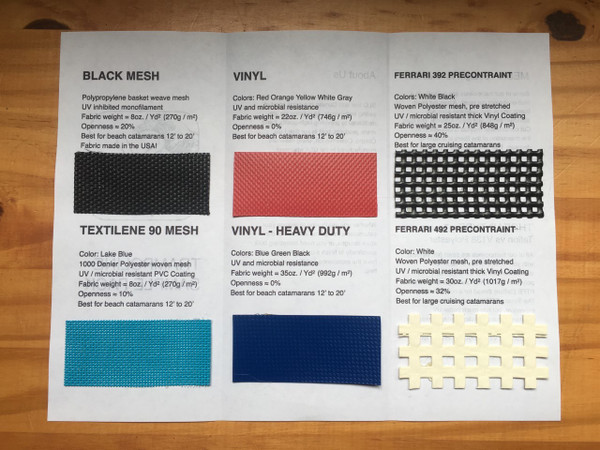 FREE trampoline sample pack. Check out each trampoline material offering before you buy!