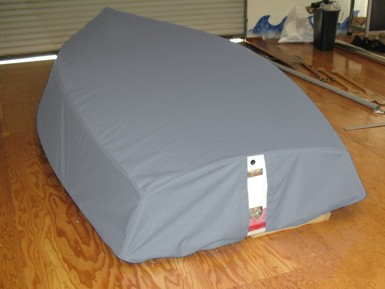 Tasar Sailboat Hull Cover by  SLO Sail and Canvas. Choose either SPLIT or SOLID transom style.