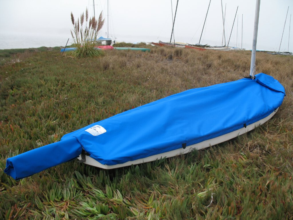 Sunfish Mast Up Flat Cover by SLO Sail and Canvas