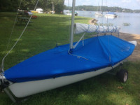 JY 15 Mast Up Flat Cover by SLO Sail and Canvas