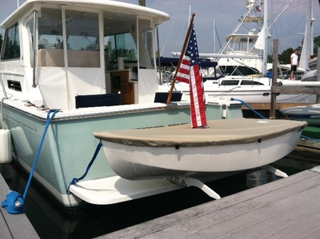 """Dyer Dhow 7'11"""" sailboat Top Cover by SLO Sail and Canvas"""