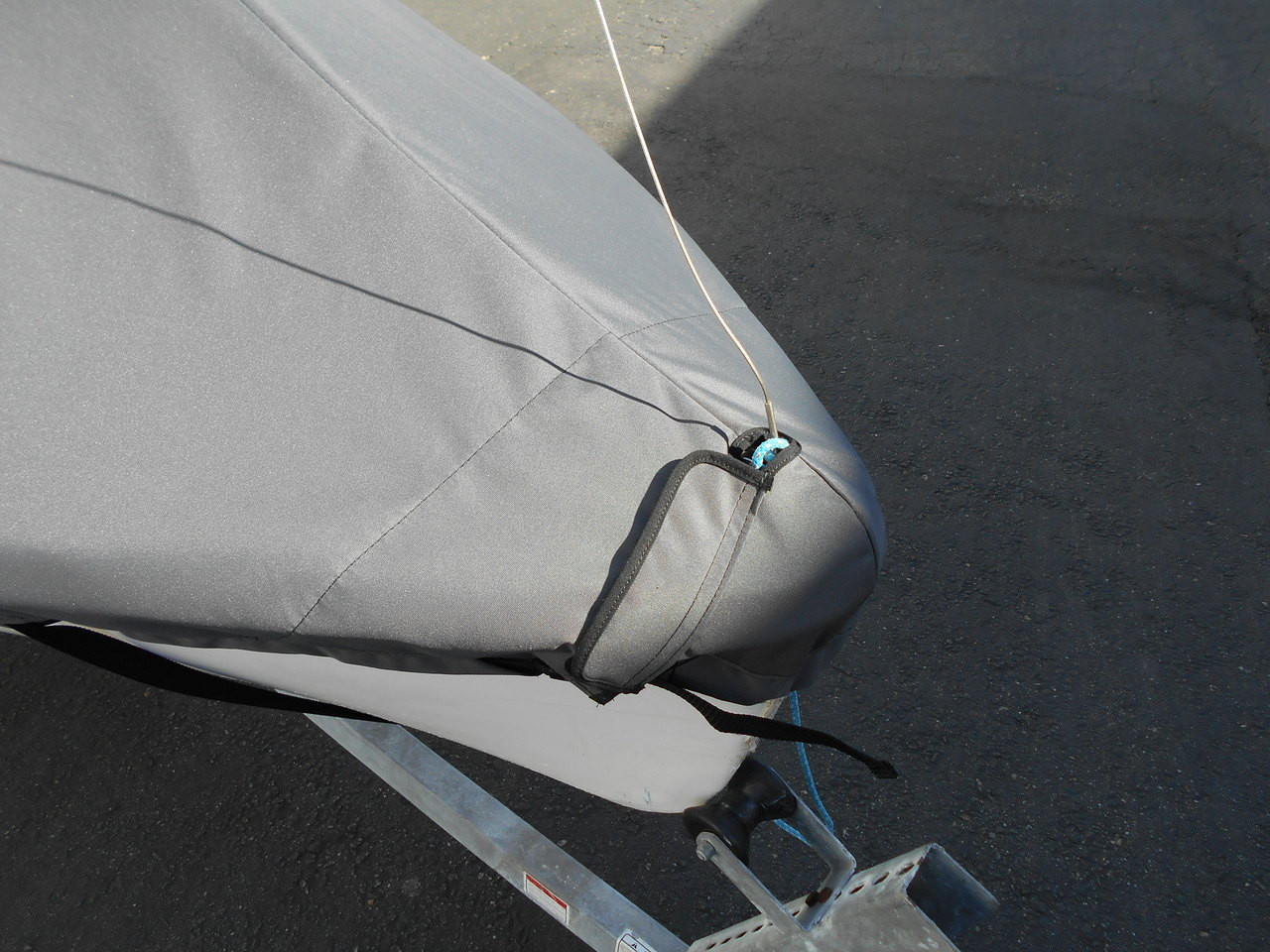 420 sailboat Mast Up Peaked Cover by SLO Sail and Canvas