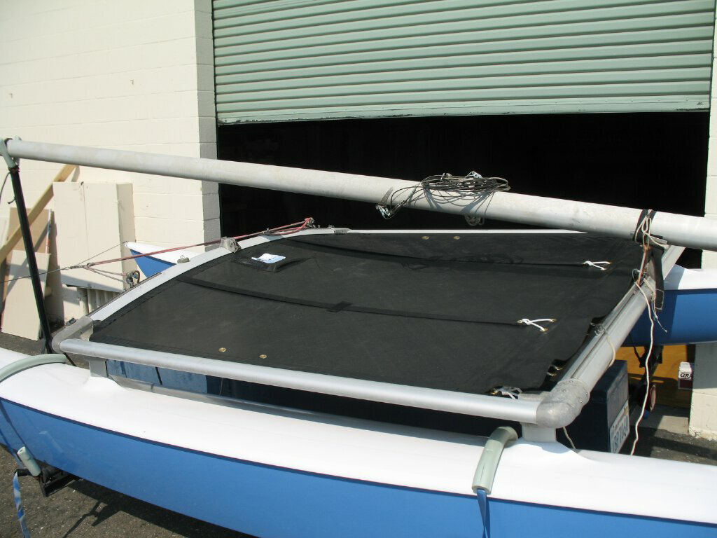 Bias Cut Trampoline to fit a Hobie 16 by SLO Sail and Canvas.