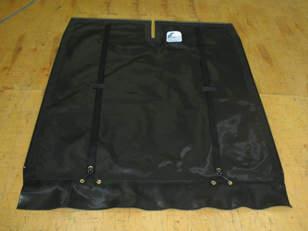 Black Mesh Bias Cut Trampoline to fit a Hobie® 18 catamaran made in America by skilled artisans at SLO Sail and Canvas.