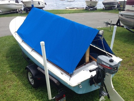 O'Day Daysailer sailboat Camping Boom Tent Coverby SLO Sail and Canvas
