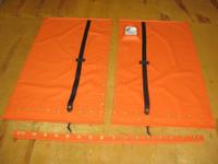"""Adjustable hiking straps made of 2"""" polypropylene webbing. 12"""" X 12"""" Halyard pocket, included."""