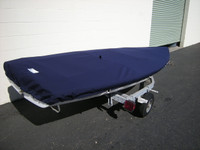 Capri 13 Sailboat deck cover. Made in the USA. Sunbrella Captains Navy. Top Deck