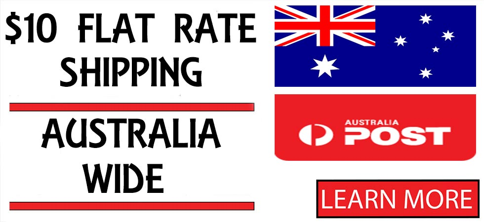 Ten Dollars Flat Rate Shipping Australia Wide