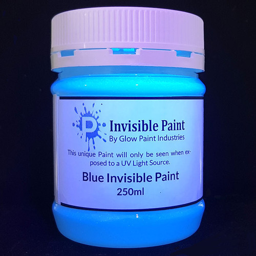 Invisible Security Paint For indoor use. This special Paint will not be seen until a UV Black light is near it.