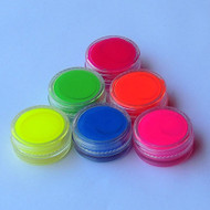 Mini UV Glow Face And Body Paint Jars