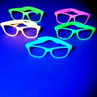 Neon Party Glasses under UV Black Lights.