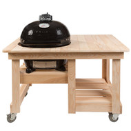 Primo Grill Oval JR 200 with Cypress Counter Top Table