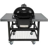 Primo Grill Oval LG 300 with Cart Stainless Steel Top