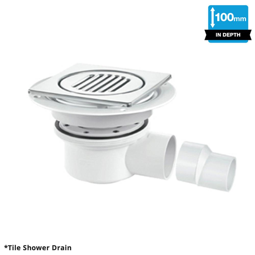 ShowerDec® Shower Trays TSG52 Square Tile Gully
